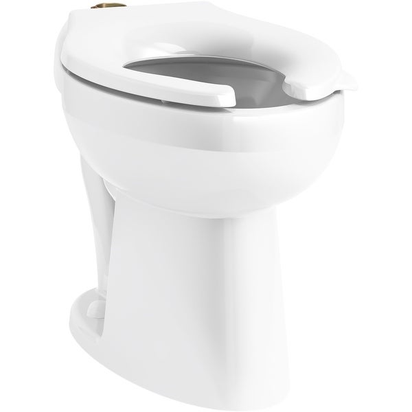 Kohler K-96057-SSL Highcliff Ultra Elongated Chair Height Toilet Bowl Only with Bedpan Lugs and Antimicrobial Finish - White