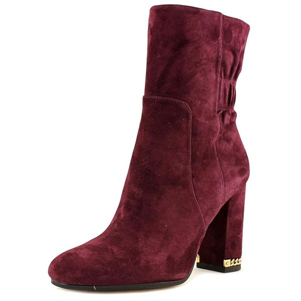 Michael Michael Kors Dolores Bootie Round Toe Suede Ankle Boot