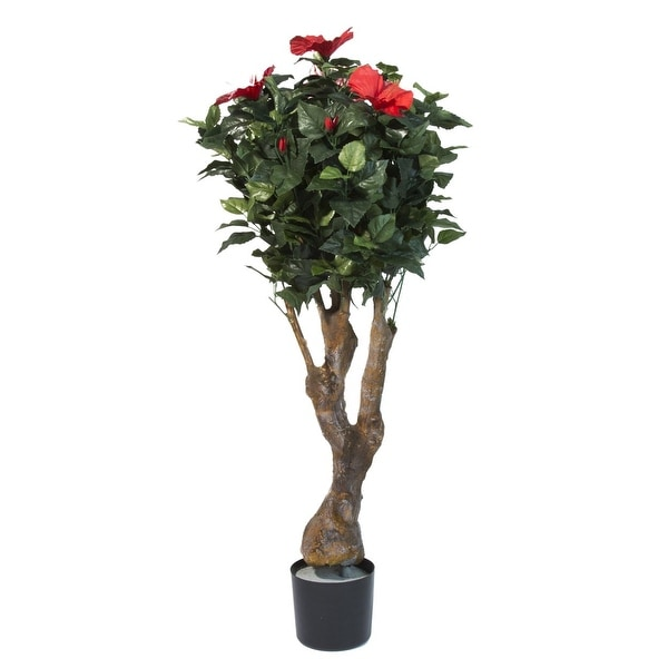 Pure Garden 48 Inch Hibiscus Tree with Flowers