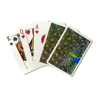 Peacock - Lantern Press Photography (Playing Card Deck - 52 Card Poker Size with Jokers)