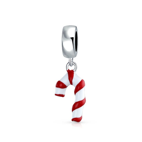 54c7f5dbd6 Bling Jewelry Red and White Enamel Candy Cane Charm