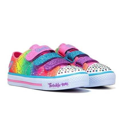 Skechers Girl's TWINKLE TOES RAINBOW MADNESS Sneaker