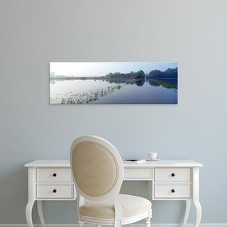 Easy Art Prints Panoramic Images's 'Standing floodwater, Mississippi River, Illinois, USA' Premium Canvas Art