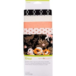 "Apricot & Persimmon - Cricut Maker Designer Fabric 12""X26"" Sampler 5Pcs"