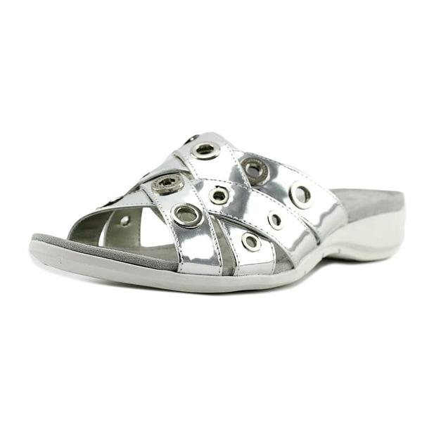 Anne Klein Sport Kandis Women Open Toe Synthetic Silver Slides Sandal