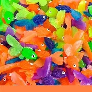 Vinyl Goldfish - 144 pieces - Assorted Colors - 1 3/4 inch long