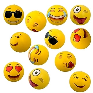 "Emoji Universe: 12"" Emoji Inflatable Beach Balls, 12-Pack - Multi"