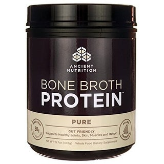Ancient Nutrition Bone Broth Protein Powder - Pure - 20 servings | Gut Friendly