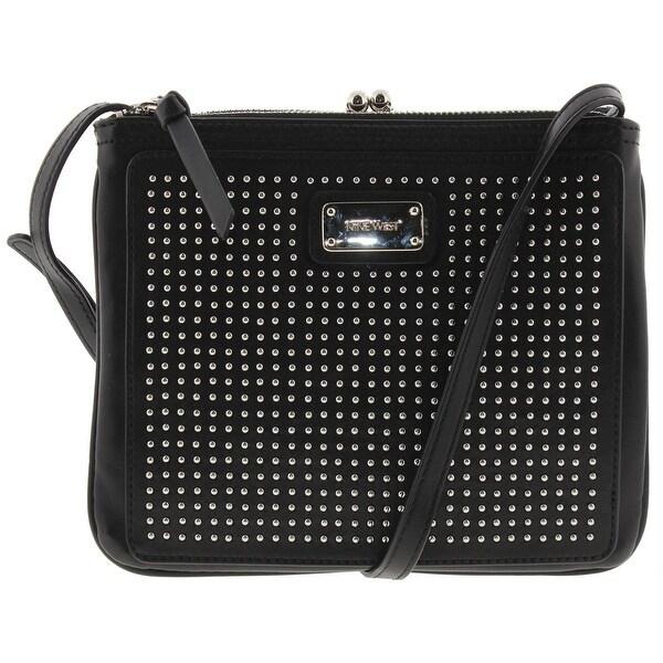 Nine West Womens Jaya Crossbody Handbag Faux Leather Studded - small