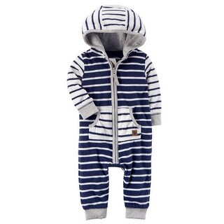 Carter's Baby Boys' 1 Pc 118g656, 6 Months - Navy/White Stripe