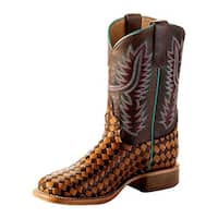 Macie Bean Western Boots Girls Kids Weave Roper Crazy Train