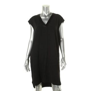DKNY Womens Crepe Cap Sleeves Wear to Work Dress - M