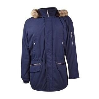 Nautica Men's Parka with Removable Faux-Fur Hood - XL