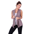 Simply Ravishing Women's Basic Sleeveless Open Cardigan (Size: Small-5X) - Thumbnail 12