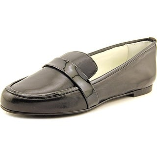 Delman Elda Round Toe Leather Flats