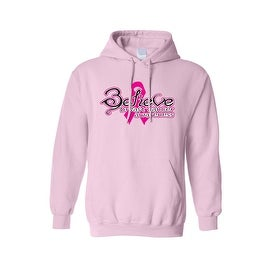 "Unisex Pullover Hoodie BCA ""BELIEVE Breast Cancer Awareness"""