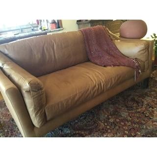 Gracewood Hollow Reginald Charme Russet Leather Sofa
