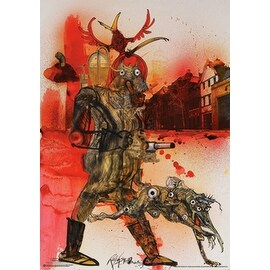 ''Hell Hound Fahrenheit 451'' by Ralph Steadman Movie & TV Posters Art Print (33.5 x 23.5 in.)