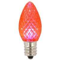 C7 Transparent Faceted LED Pink Twinkle Replacement Bulb -Case of
