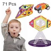 Costway 71 Pcs Magical Magnetic Construction Building Blocks Educational Toys For Kids
