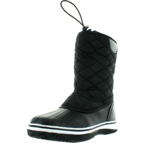 Refresh Snow-01 Women's Lace Up Waterproof Quilted Mid Calf Winter Snow Boots