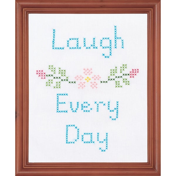 "Stamped White Sampler Kit 11""X14""-Laugh"