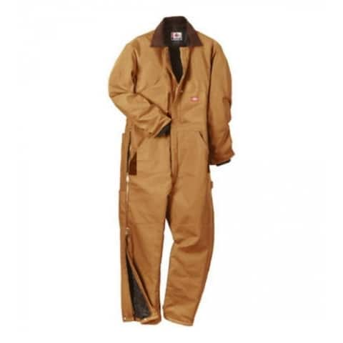 Dickies TV239BDXLT Men's Tall Fit Duck Insulated Coveralls, Extra Large, Brown