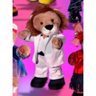 Applause Dance Party Animals Musical Plush 70s Boy Lion - White