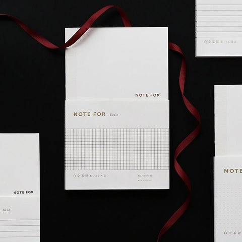 G Home Collection White Simple Memo Book Set of 2