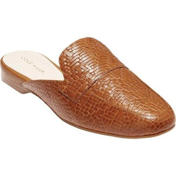 fd5d09daffc Cole Haan Women  x27 s Delcie Loafer Mule II British Tan Embossed Weave  Leather