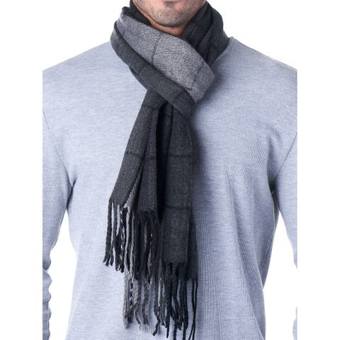 Hammer Anvil Mens Plaid Scarf Ultra Soft Winter Scarves Unisex - One Size