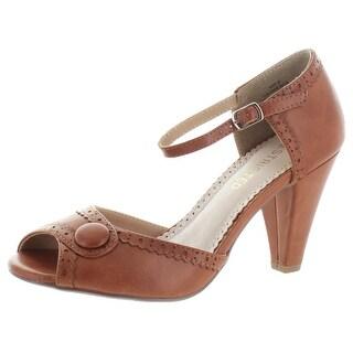 Restricted Dorothy T-Strap Peep Toe Dress Heels Pumps Shoes Vintage