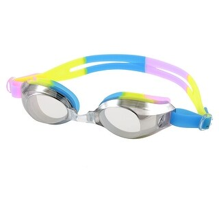 Unique Bargains Colorful Strap Anti-shatter Clear Swim Goggles w Waterproof Ear Plugs For Ladies