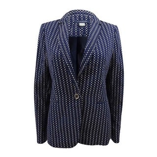 Tommy Hilfiger Women's Square Dot One Button Jacket - midnight/ivory