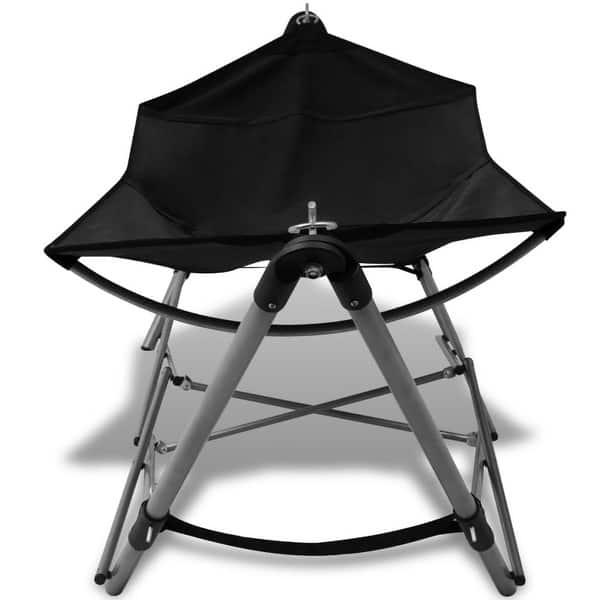 Shop Vidaxl Portable Hammock Black Travel Camping Beach Hanging