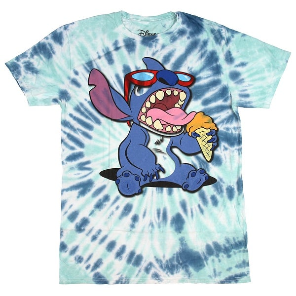 2b1c59bdd351 Shop Disney Lilo & Stitch Men's Ice Cream Tie Dye T-Shirt - Free Shipping  On Orders Over $45 - Overstock - 22799886