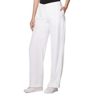 Pure DKNY Womens Petites Casual Pants Comfort waist Double Pleat - L