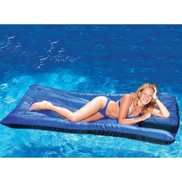 """78"""" Water Sports Inflatable Blue Ultimate Mattress Swimming Pool Lounger"""
