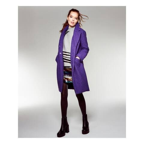 ALFANI Womens Purple Pocketed Solid Blazer Coat Size S