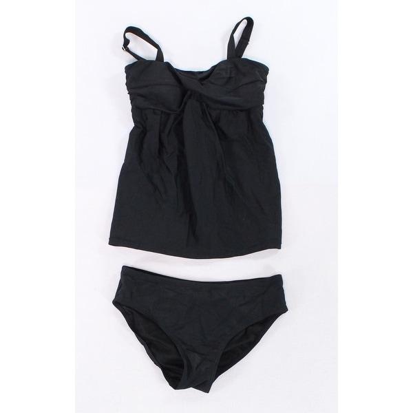 c3f9020b908 Shop Hao Meili Black Women s Size Medium M Twist Knot Two Piece Swimwear -  On Sale - Free Shipping On Orders Over  45 - Overstock - 27054307