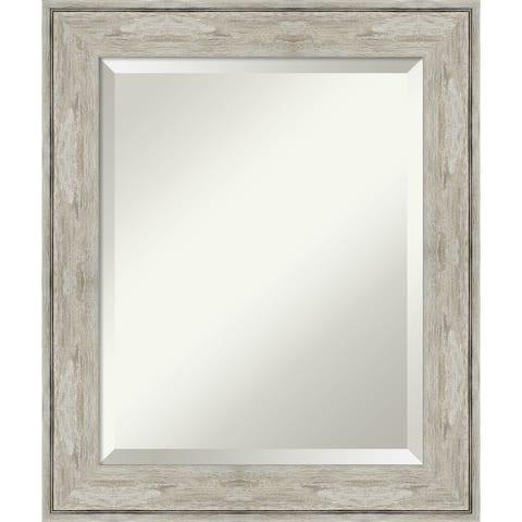 Crackled Metallic Bathroom Vanity Wall Mirror