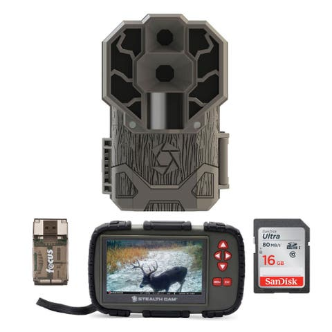 Stealth Cam DS4K 30MP 4K Trail Camera w/ Compact Viewer Bundle