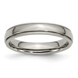 Chisel Grooved and Beaded Polished Titanium Ring (4.0 mm) https://ak1.ostkcdn.com/images/products/is/images/direct/da0324239e9e47f58931e1477c6cbf3b8f725962/Chisel-Grooved-and-Beaded-Polished-Titanium-Ring-%284.0-mm%29.jpg?impolicy=medium