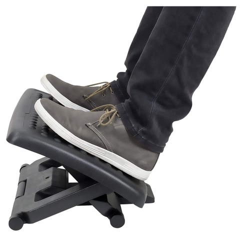 Mount-It! Footrest with Massaging Rollers, Adjustable Angle and Height, 18 x 13 Inches- MI-7809