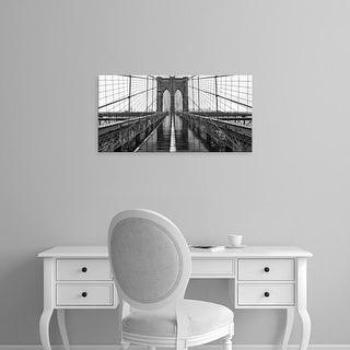 Easy Art Prints PhotoINC Studio's 'Brooklyn Bridge' Premium Canvas Art