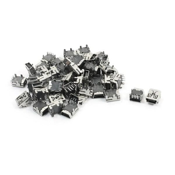 Unique Bargains 50Pcs USB Female Type B 5-Pin 90 Degree Angle Plug Jack Socket Connector