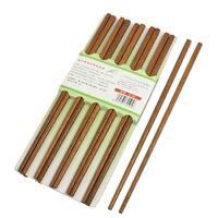 "Unique Bargains Restaurant Dining Room Dishware Brown Wooden Chopsticks 10 Pairs 9.6"""