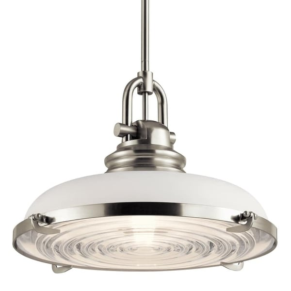 "Miseno MLIT152444 1 Light 18"" Wide Pendant with White Glass Shade"