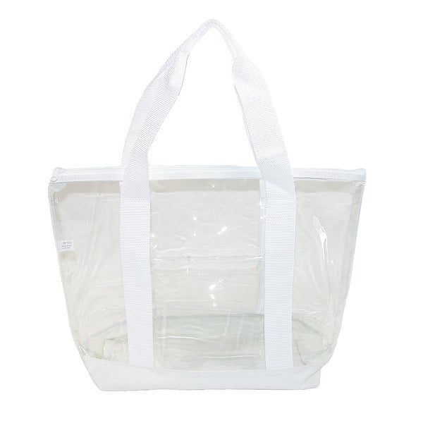 Liberty Bags Small Clear Tote Bag with Zippered Top - One size