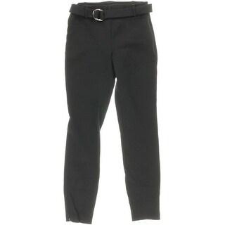 Zara Womens Flat Front Zip Ankles Dress Pants
